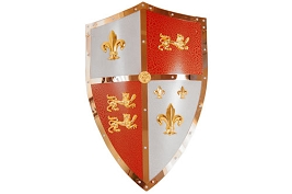 Early English Royal Coat of Arms Shield and Sword Hanger