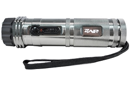 Brand name  Zap Stun Gun Flashlight 1 Million Volts Rechargeable  with flashlight