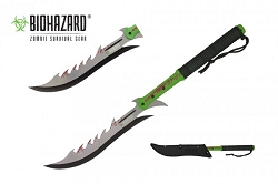 Pulverizer Zombie Head cleaver Axe with Sheath