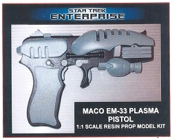 Star Trek Enterprise MACO EM-33 Plasma Pistol Prop Model Kit