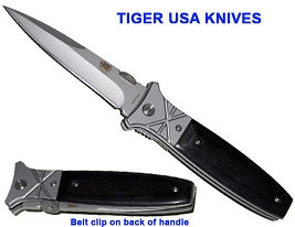TIGER USA  Black Widow Sliver Streak Spring Assisted Knife