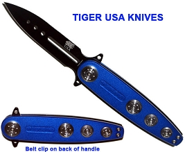 Blue Thunder Spring Assisted Knife