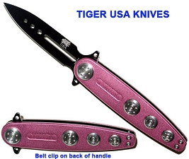 Pink Flash Spring Assisted Knife