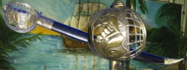 Lady of the Deep Blue Sea Pirate Basket Hilt Sword