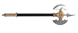 Skull Claw Double Blade Battle Axe with Spear