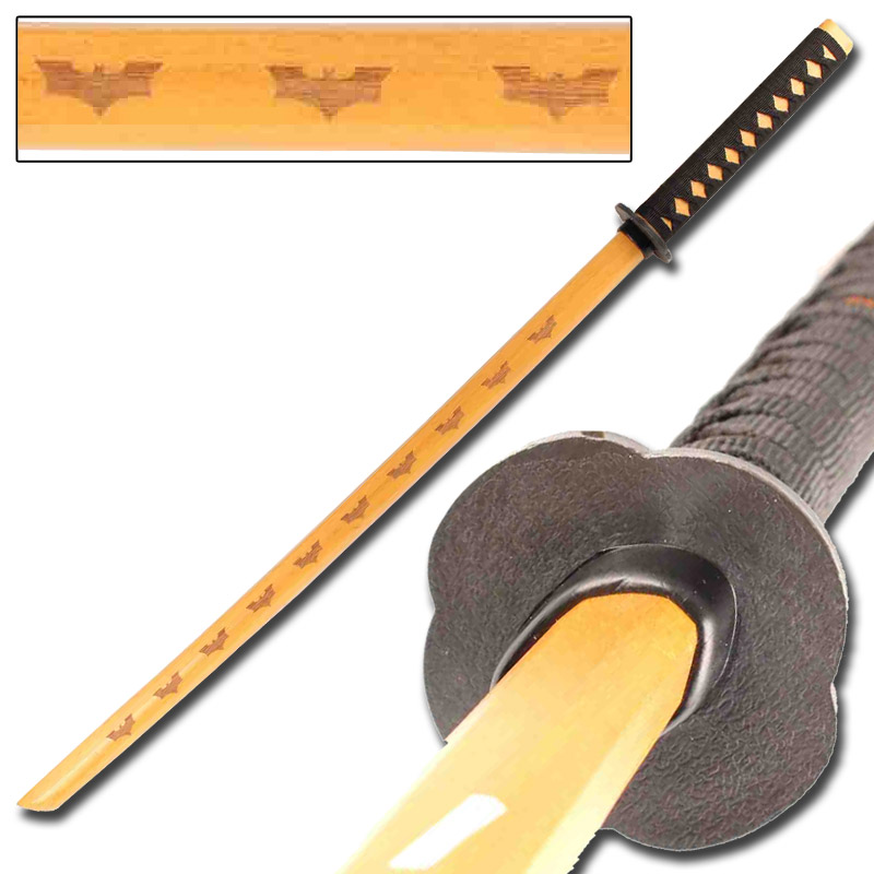 Dark Night Rises Bokken – Natural Wood