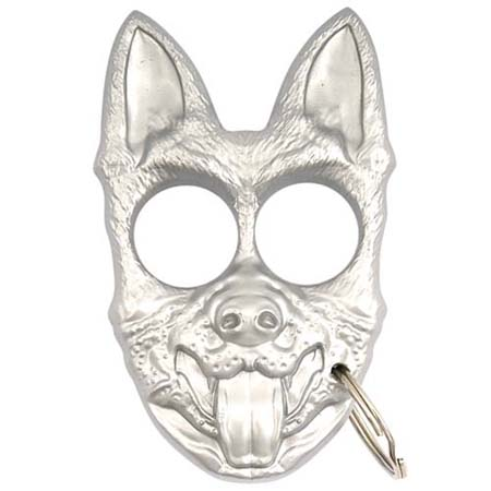 Self Defense K-9 Personal Protection Keychain(Silver)