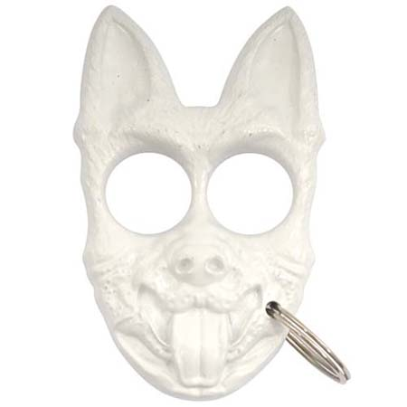 Self Defense K 9 Personal Protection Keychain White