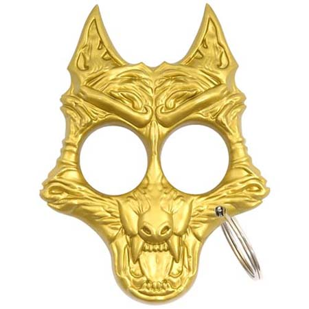 Self Defense Twilight Werewolf Keychain(Gold)