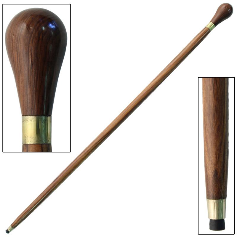 Sheesham Wood Knob Handle Walking Stick