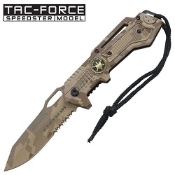 Tac Force Speedster Always Ready Digital Camo Spring Assisted Pocket Knife