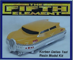 The Fifth Element Korben Dallas Taxi- 7 inches long  1/24 scale model
