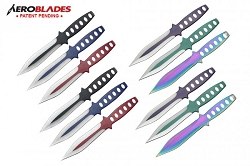 Aeroblades  12 Piece Tornado Throwing Knives Set