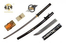 Full Tang handmade ICHIBAN sword with marble inlay Ninja Katana Sword 41 inches overall length