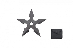 5 inch rubber star with free  pouch that fits on belt