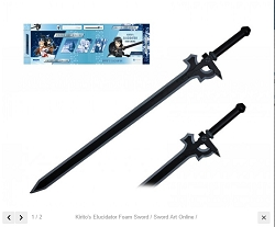 Kirito's Elucidator Foam Sword