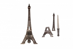 Eiffel Tower dagger and statue