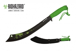 Long 24 inch machete  with paracord wrapped handle.  Includes nylon sheath.
