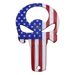 3 and 1/4 inch Stainless steel Punisher bottle opener & Keychain