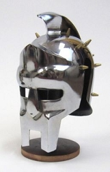 Mini Gladiator Helmet Metal with Free Display Stand