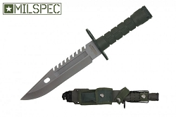 M9 Bayonet For AR15 Green 12 and 3/4 inch overall length
