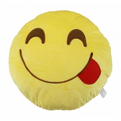 yum emoji 13 inches diameter plush toy