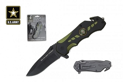 US ARMY Licensed  Spring Assisted Pocket Knife