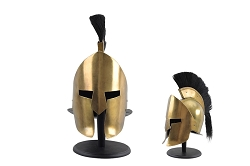 Spartan Helmet Metal Full Sized  with Black Created  Plume