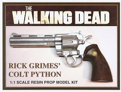 The Walking Dead Rick Grime's Colt Python Resin Prop Model Kit