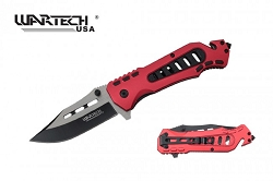 The LARRIOT Tech  Spring Assisted Knife with rope cutter and window breaker tactical and rescue knife