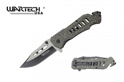 The LARRIOT Tech  Spring Assisted Knife with rope cutter and window breaker tactical and rescue knife  snake skin