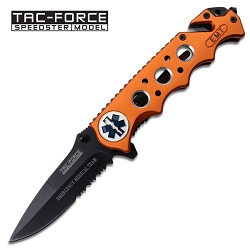 Tac Force Speedster EMT Spring Assisted Pocket Knife Rescue Tool