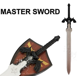 Zelda Dark Link Master Sword with plaque  37 inches overall