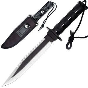 Military Survival Bowie Hunting Knife