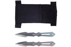 2 PC Slot Throwing Knife Set with Nylon Case 5.5 Inch Knives