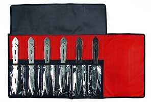 12 PC Super Bolt Thrower Jumbo Throwing Knife Set with Roll Case - 8.5 Inch Knives