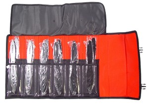 12 PC Blackwater Jumbo Throwing Knife Set with Roll Case - 9 Inch Knives