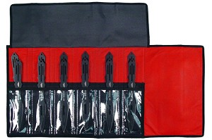 12 PC Black Widow Jumbo Throwing Knife Set with Roll Case - 9 Inch Knives