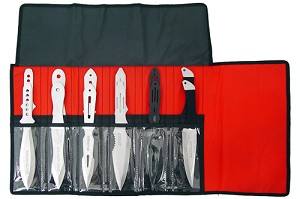 Aeroblades 12 PC Throwing Knife Set Assorted