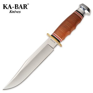 Kabar Bowie Knife with Leather Sheath