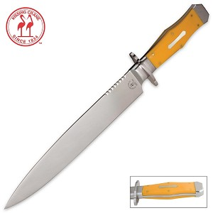 Kissing Crane Yellow Bowie Knife