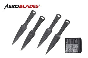 "MILSPEC 7.5"" Stone Washed  Tacticool  throwing knives set of 4"