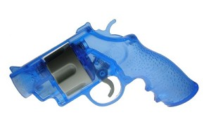 RUSSIAN ROULETTE REVOLVER DRINKING GAME  BLUE
