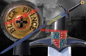 Edward, The Black Prince Noble Sword With Free Wall Display Plaque