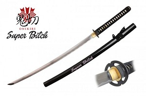 PINK Terrestrial SUPER BITCH Handmade Fully Functional Forged 1045 Steel Shinogi-Zukuri Katana Sword, Same (Ray Skin) Handle with Certificate of Authenticity