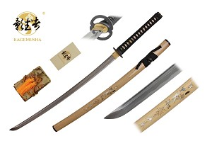 Full Tang handmade ICHIBAN natural wood with marble inlay Ninja Katana Sword 41 inches overall length