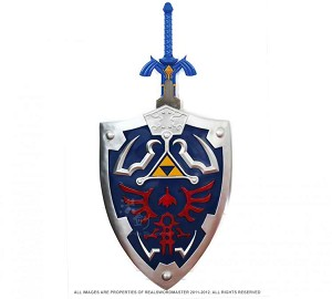 Full SIze Link's Hylian Shield & Master Sword from the Legend of Zelda Combo