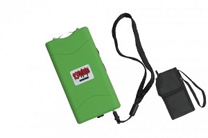 ZOMBIE GREEN 10 MILLION VOLT RECHARGEABLE STUN GUN WITH FLASHLIGHT