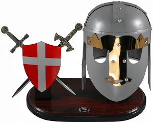 7.5 inch stainless steel helmet with stand and letter openers