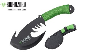 "11"" Survival Zombie Killer Tactical Throwing Axe Double Edge with Sheath"